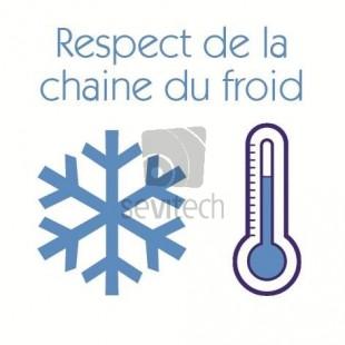 Etiquettes RF for frozen foods 40mm